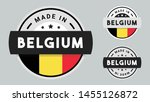 made in belgium collection of... | Shutterstock .eps vector #1455126872