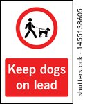 no dogs allowed sign vector | Shutterstock .eps vector #1455138605