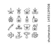 cannabis or hemp industry icons ...