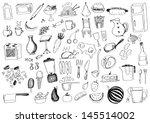 food doodles | Shutterstock .eps vector #145514002