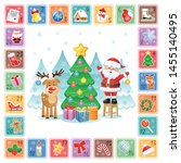 christmas countdown advent... | Shutterstock .eps vector #1455140495