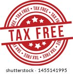 tax free stamp badge   eps 10... | Shutterstock .eps vector #1455141995