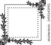 vintage wedding design  with... | Shutterstock .eps vector #1455142952