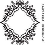 vintage wedding design  with... | Shutterstock .eps vector #1455142958