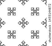 grey pixel arrows in four... | Shutterstock .eps vector #1455144872