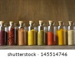 assorted ground spices in... | Shutterstock . vector #145514746