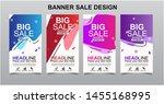 vektor modern fluid for big... | Shutterstock .eps vector #1455168995