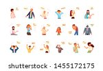 big set of diverse people... | Shutterstock . vector #1455172175