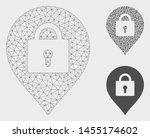 mesh locker marker model with... | Shutterstock .eps vector #1455174602