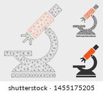 mesh labs microscope model with ... | Shutterstock .eps vector #1455175205