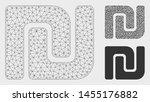 mesh israeli shekel model with... | Shutterstock .eps vector #1455176882