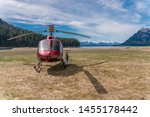 Helicopter On The Beach In...