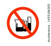 no chemical mix sign isolated... | Shutterstock .eps vector #1455186302