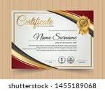 beautiful certificate template... | Shutterstock .eps vector #1455189068