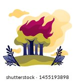 ecological problem wildfire... | Shutterstock .eps vector #1455193898