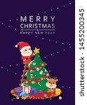 celebration christmas festive... | Shutterstock .eps vector #1455200345