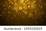 abstract gold bokeh with black... | Shutterstock .eps vector #1455220325