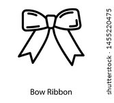 icon of bow ribbon in line... | Shutterstock .eps vector #1455220475
