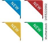 set of new red corner ribbon... | Shutterstock .eps vector #1455222002