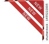 set of new red corner ribbon... | Shutterstock .eps vector #1455222005