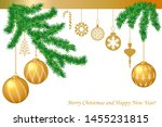 merry christmas greeting card.... | Shutterstock .eps vector #1455231815