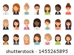 women faces. avatar female... | Shutterstock .eps vector #1455265895