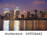 new york city manhattan... | Shutterstock . vector #145526662