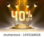 scene golden 40 sale off text... | Shutterstock .eps vector #1455268028