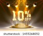 scene golden 10 sale off text... | Shutterstock .eps vector #1455268052