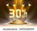 scene golden 30 sale off text... | Shutterstock .eps vector #1455268055