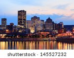 montreal over river at sunset... | Shutterstock . vector #145527232
