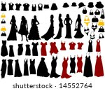 fashion silhouettes | Shutterstock .eps vector #14552764