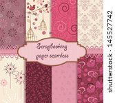 scrapbook paper seamless | Shutterstock .eps vector #145527742
