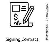 signing contract in line... | Shutterstock .eps vector #1455283502