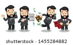working day highlights of... | Shutterstock .eps vector #1455284882