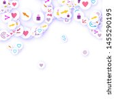 social media marketing ... | Shutterstock .eps vector #1455290195