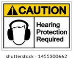 caution hearing protection... | Shutterstock .eps vector #1455300662