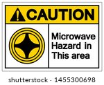 caution microwave hazard in... | Shutterstock .eps vector #1455300698