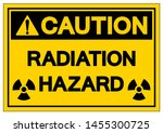caution radiation hazard symbol ... | Shutterstock .eps vector #1455300725