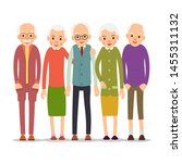 cartoon character old group.... | Shutterstock .eps vector #1455311132