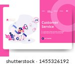 customer service illustration ... | Shutterstock .eps vector #1455326192