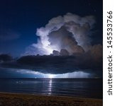 Lightning Above The Sea In...