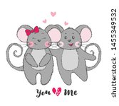 valentine's day greeting card... | Shutterstock .eps vector #1455349532