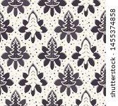 seamless pattern. hand drawn... | Shutterstock .eps vector #1455374858