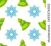 merry christmas   seamless... | Shutterstock .eps vector #1455376502