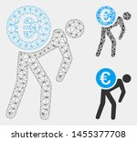 mesh euro courier model with... | Shutterstock .eps vector #1455377708