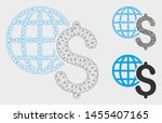 mesh global economics model... | Shutterstock .eps vector #1455407165