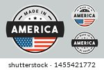 made in america collection of... | Shutterstock .eps vector #1455421772