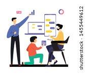 man working vector template... | Shutterstock .eps vector #1455449612