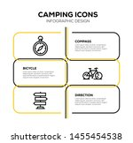 camping and illustration icon... | Shutterstock .eps vector #1455454538